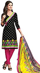 Tripssy Women's Cotton Printed Unstitched Salwar Suit (fb_dm_42, Multi-coloured)