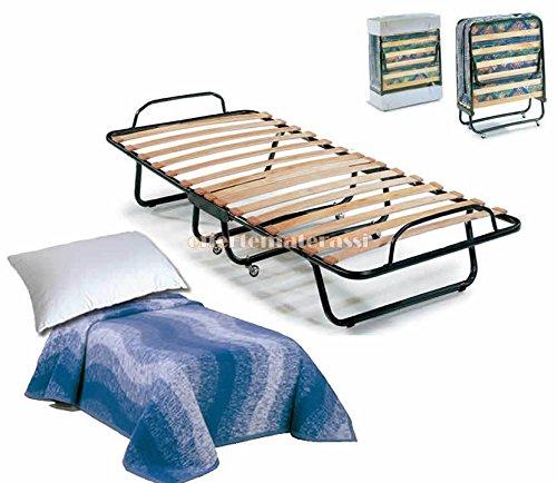 Gästebett 80x 190cm klappbar Bett mit Matratze und Kissen und Decke Einzelbild