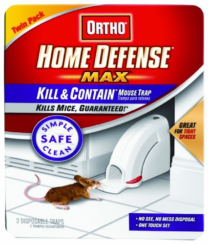 Ortho 0320110 Home Defense Max Kill & Contain Mouse Trap, Disposable 2-Pack Packagequantity: 1 Outdoor, Home, Garden, Supply, Maintenance