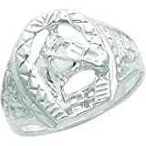 Sterling Silver Horse Ring Size 9