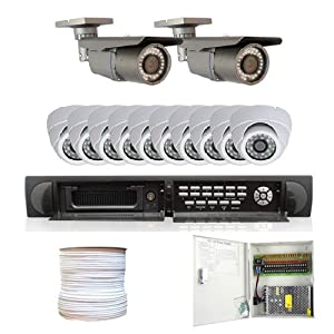 Complete 16 Channel Real Time Network DVR (2T HDD HDMI) Surveillance CCTV System Package w/ 1/3