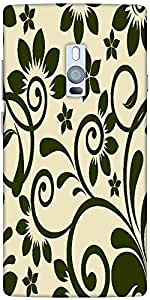 Snoogg seamless floral pattern abstract background Hard Back Case Cover Shield For Oneplus Two