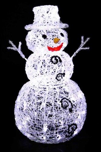 deco noel bonhomme de neige lumineux 96 lampes led blanches avis avis prix test. Black Bedroom Furniture Sets. Home Design Ideas