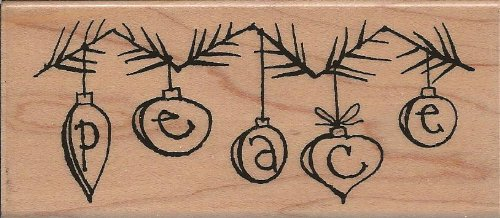 Retro Peace Wood Mounted Rubber Stamp (N145)