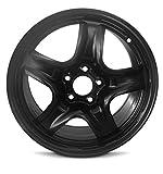 New 10-12 17x7.5 Ford Fusion 10-11 Mercury Milan 5 Spoke Black Replacement Steel Wheel Rim