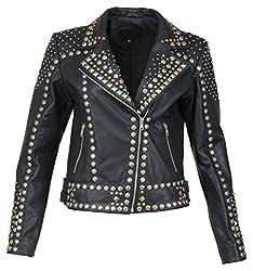 Zohran Women's Leather Jacket (WJKT-PR-101, Black, X-Large) WJKT-PR-101_XL