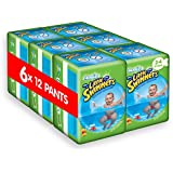 Huggies Little Swimmers Pant, Size 3-4, 7-15 kg, 15-34 lbs - 6 Packs of 12 Pants (72 Pants)