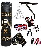 Madx 5ft Gold/Black 13pc Punch bag Set