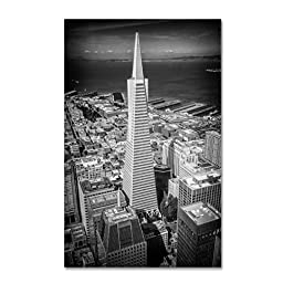 Trademark Fine Art The Transamerica Pyramid Artwork by Erik Brede, 16 by 24-Inch