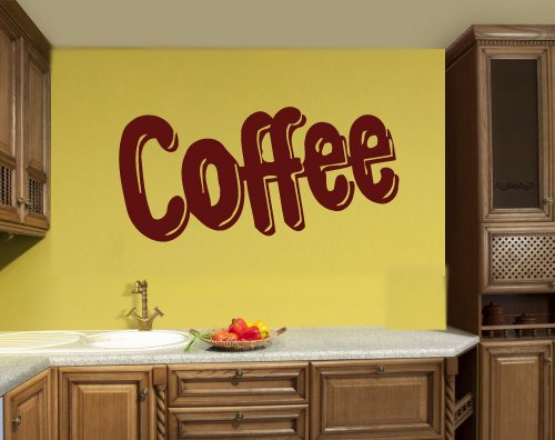 Coffee tea shop restaurant business mural wall art decor for Mural coffee shop