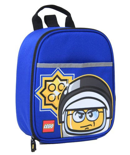 LEGO Police Minifigure Vertical Lunch, Blue, One Size - 1