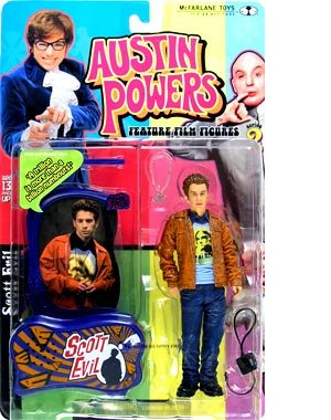 Buy Low Price Austin Powers Scott Evil in Kurt Cobain Shirt Action Figure (B001REBH4G)