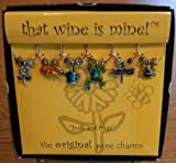 Buds and Bugs Painted Wine Glass Charms is one of the Most Popular Wine Charm Sets – 1403P