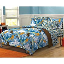 Extreme Sports Ultra Soft Microfiber Boys Comforter Sheet Set Blue Multi