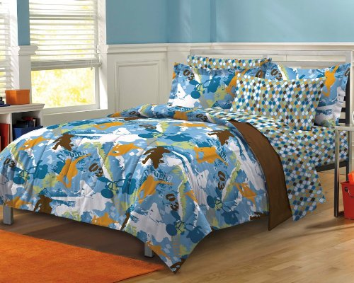 My Room Extreme Sports Ultra Soft Microfiber Boys Comforter Set, Multi-Colored, Full