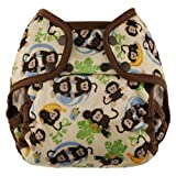 Blueberry Coveralls Diaper Cover Snap, Monkeys