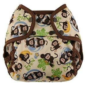 Blueberry Coveralls Diaper Cover Snap, Monkeys