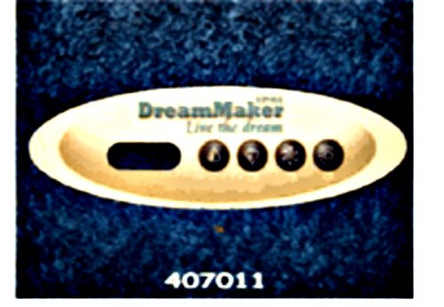 Dreammaker Spa Overlay Sticker for Digital Topside