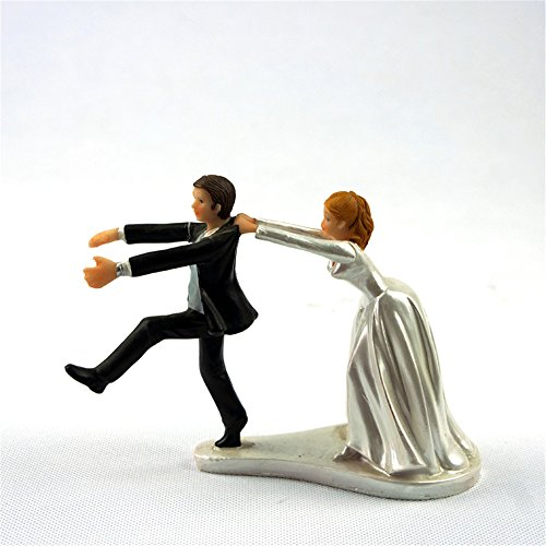 Resin Figurine Reluctant Groom Wedding Cake Toppers