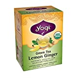 Yogi Teas Lemon Ginger Green Tea Bags, 16 Count