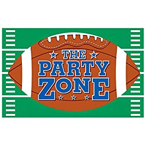 "Amscan Cool Football Giant Vinyl Party Sign Banner, 78"" x 48"", Green/Brown/Blue by TradeMart Inc."
