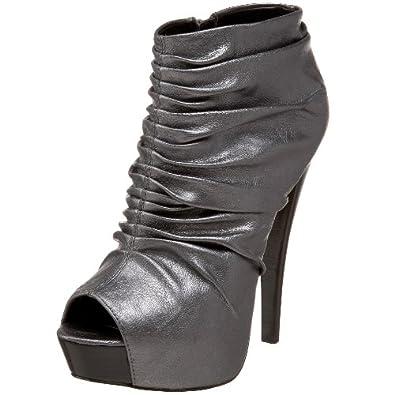 Steve Madden Women's A-Eliska Ankle Boot,Pewter,9 M US