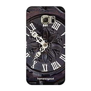 HomeSoGood Vintage Wall Clock Multicolor 3D Mobile Case For Samsung S6 Edge ( Back Cover)