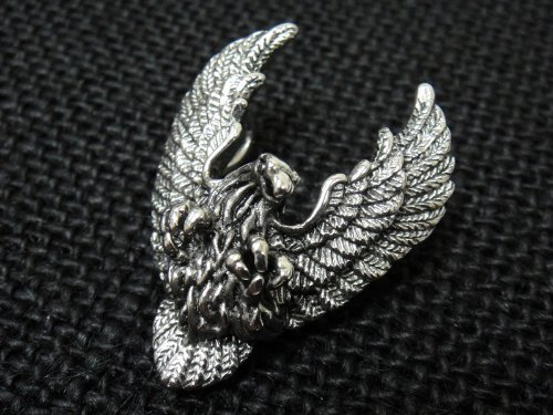 The Biker Metal 316L Stainless Steel Silver Live to Ride Eagle Pendant w FREE Chain for Harley Motor Biker TP-17 By Priority Mail