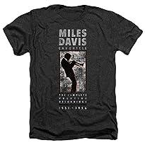 Miles Davis Mile Silhouette Heather T-Shirt