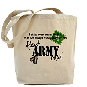 CafePress Proud Army Mom Tote Bag - Standard Multi-color