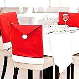 クリスマス に 楽しい 食卓 を サンタ 帽子 イス 椅子 カバー チェアー カバー (4枚セット)