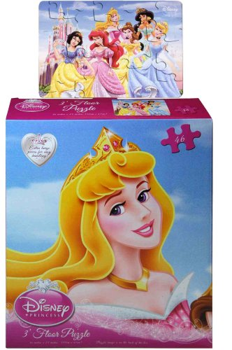 Disney Princess 46 Piece 3 Foot Floor Puzzle Assorted Styles front-88234