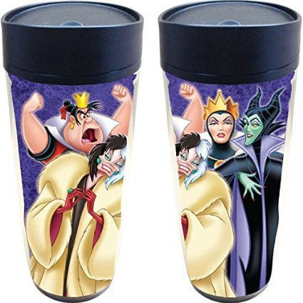 Good To Be Bad Villains Travel Mug Cruella Deville Maleficent Evil Queen Of Hearts