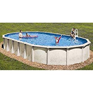 Tahitian 18 x 33 ft oval 54 inch hybrid above - 8 foot above ground swimming pools ...