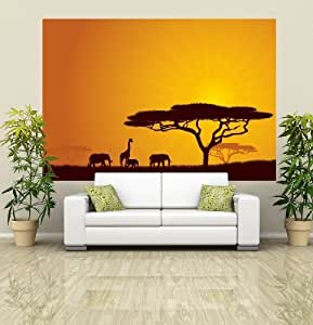 African wildlife sunset wall mural photo wallpaper home for African sunset wall mural