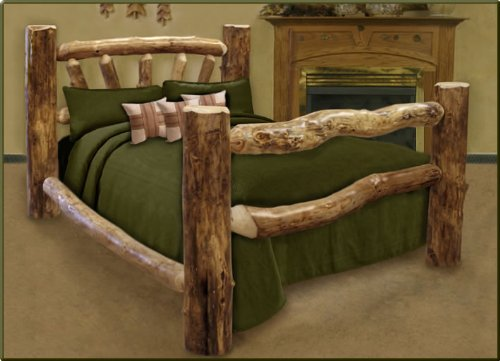 Queen Size Aspen Log Bed