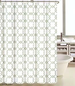 Amazon Com Max Studio Home Cotton Shower Curtain Tile