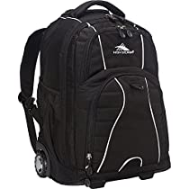 High Sierra Freewheel Rolling Backpack (Black)