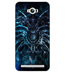 PrintDhaba SPIDER SHADOW D-6611 Back Case Cover for ASUS ZENFONE MAX ZC550KL (Multi-Coloured)