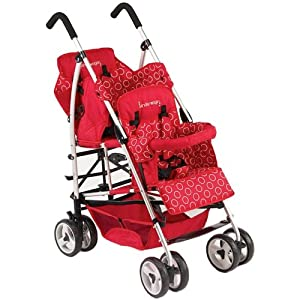 Kinderwagon Hop Tandem Umbrella Stroller - Red v2