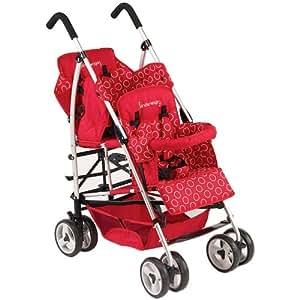 Kinderwagon Hop Tandem Umbrella Stroller - Red v2