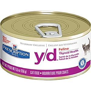 Hill's Diet y/d Feline Thyroid Health Canned Cat Food (24 -5.5oz cans)
