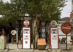 Lots of Gasoline Choices Today on Old U.S. Route 66 Photograph - Beautiful 16x20-inch Photographic Print by Carol M. Highsmith