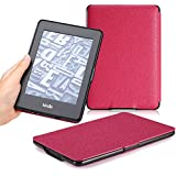 Kindle Paperwhite Case, MoKo Premium Thinnest and Lightest Leather Cover with Auto Wake / Sleep for Amazon All-New Kindle Paperwhite (Fits All 2012, 2013 and 2015 Versions), Black