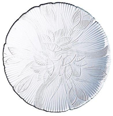 Embossed Floral Leaf Design Dessert Plate
