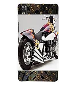 ColourCraft Amazing Bike Design Back Case Cover for LENOVO A7000 PLUS