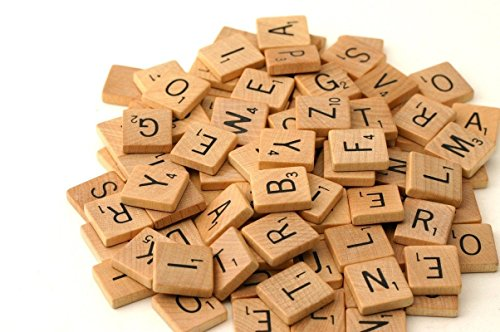 Wood Scrabble Tiles - 100pcs NEW Scrabble Letters Great for Crafts, Pendants, Spelling