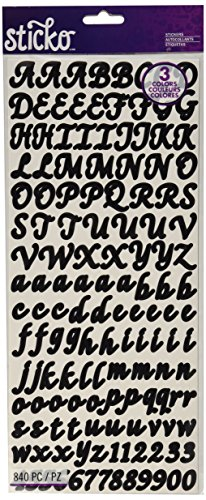 Sticko Letters/Numbers Sticker Value Pack, Black, Gold and Silver, 840-Pack (Value Pack Stickers compare prices)