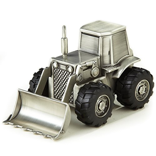 Elegance Pewter Plated Bulldozer Bank - 1