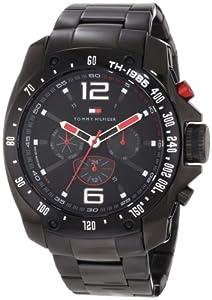 Buy Tommy Hilfiger Mens 1790870 Sport Black Ion-Plated Black Bezel Multi-Function Bracelet Watch by Tommy Hilfiger